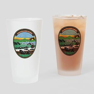 Kansas Vintage State Flag Drinking Glass