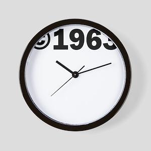 COPYRIGHT 1963 Wall Clock