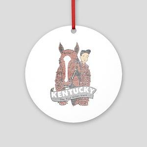 Vintage Kentucky Derby Ornament (Round)