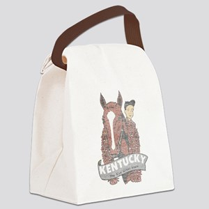 Vintage Kentucky Derby Canvas Lunch Bag