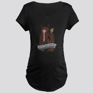Vintage Kentucky Derby Maternity T-Shirt