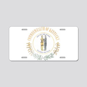 Kentucky Vintage State Flag Aluminum License Plate