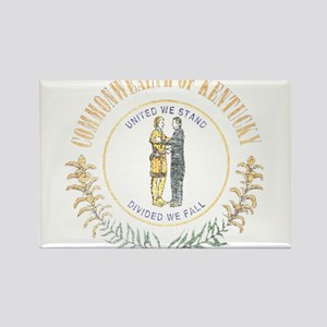 Kentucky Vintage State Flag Rectangle Magnet