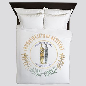Kentucky Vintage State Flag Queen Duvet