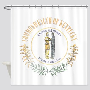 Kentucky Vintage State Flag Shower Curtain