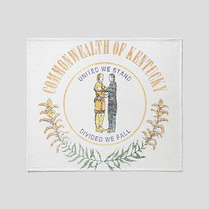 Kentucky Vintage State Flag Throw Blanket