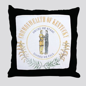 Kentucky Vintage State Flag Throw Pillow