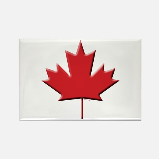 Canada: Maple Leaf Rectangle Magnet