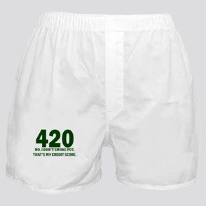 420 No I Dont Smoke Pot Thats My Credit Score Boxe