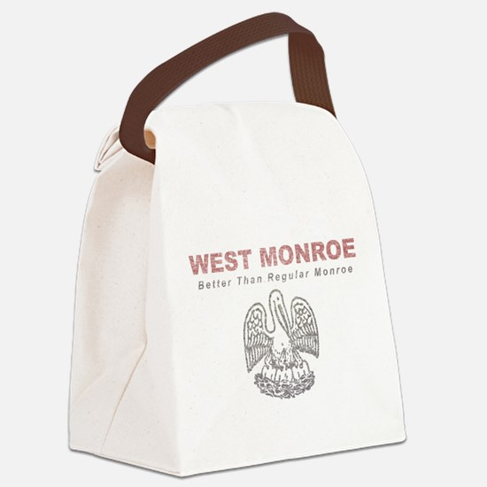 Faded West Monroe Canvas Lunch Bag