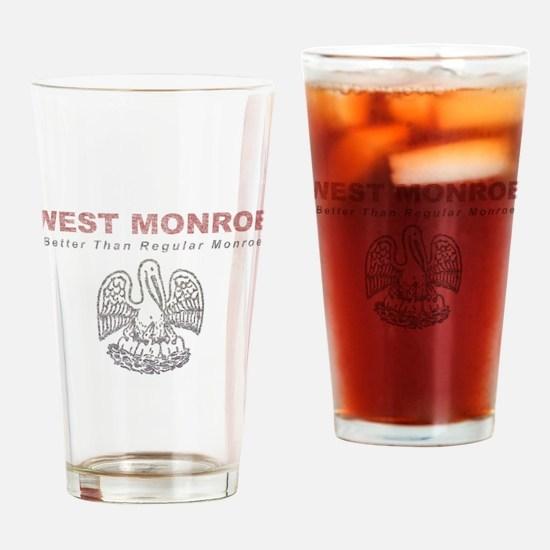 Faded West Monroe Drinking Glass