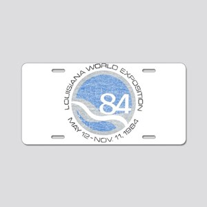 1984 Worlds Fair Aluminum License Plate