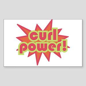 Curl Power Rectangle Sticker