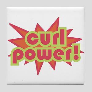 Curl Power Tile Coaster