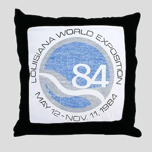 1984 Worlds Fair Throw Pillow