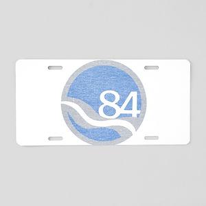 84 Worlds Fair Aluminum License Plate