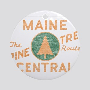 Pine Tree Route Ornament (Round)