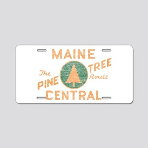 Pine Tree Route Aluminum License Plate