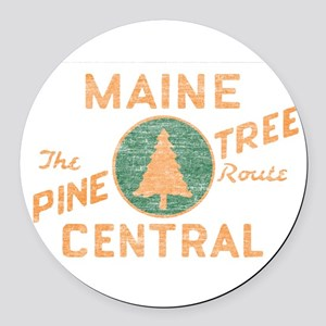 Pine Tree Route Round Car Magnet