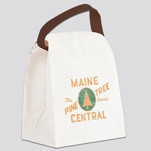 Pine Tree Route Canvas Lunch Bag