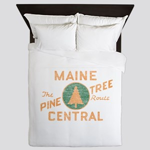 Pine Tree Route Queen Duvet