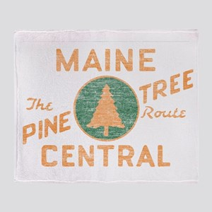 Pine Tree Route Throw Blanket