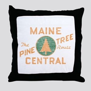 Pine Tree Route Throw Pillow
