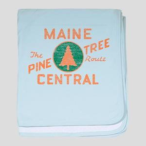 Pine Tree Route baby blanket