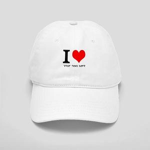 I Heart (Personalized Text) Baseball Cap