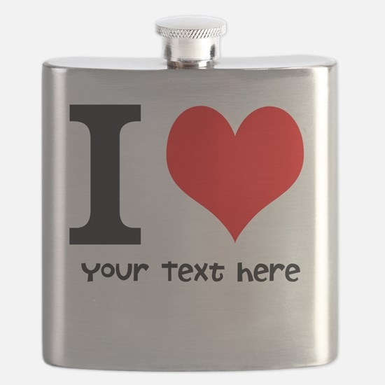 I Heart (Personalized Text) Flask