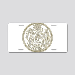 Maine State Seal Aluminum License Plate