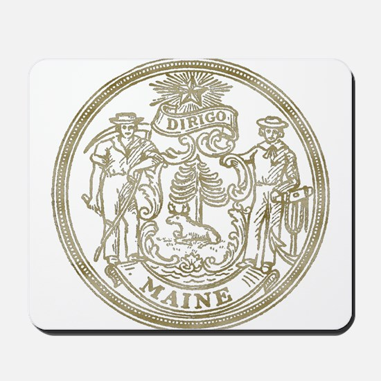 Maine State Seal Mousepad