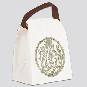 Maine State Seal Canvas Lunch Bag