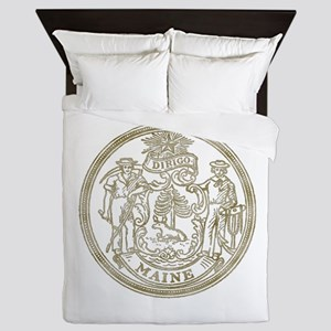 Maine State Seal Queen Duvet