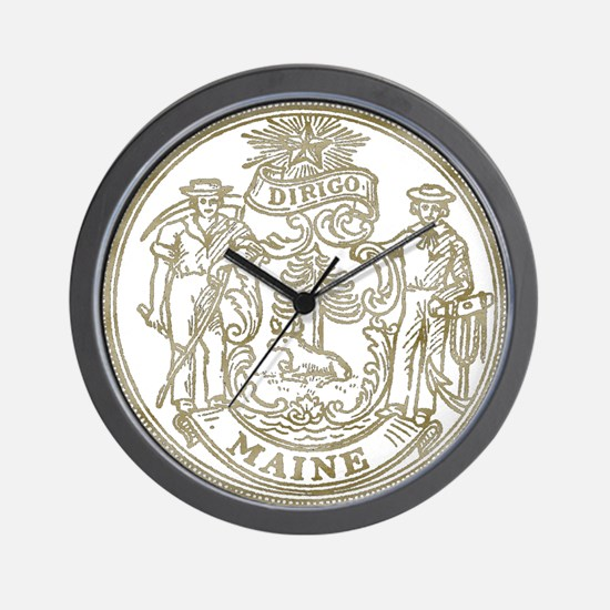 Maine State Seal Wall Clock