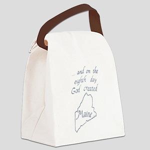 God Created Maine Canvas Lunch Bag