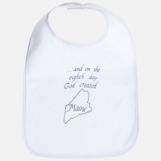 God Created Maine Bib