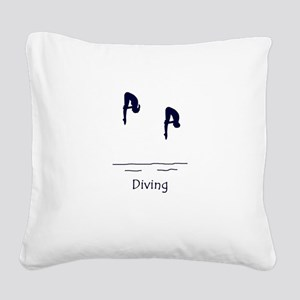 Diving Square Canvas Pillow
