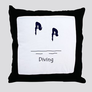 Diving Throw Pillow