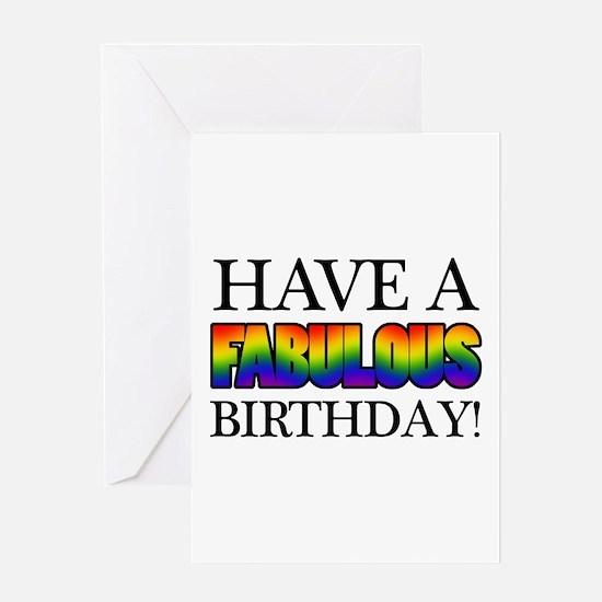 Fabulous Gay Pride Birthday Greeting Card