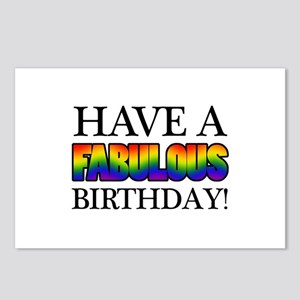 Fabulous Gay Pride Birthday Postcards (Package of