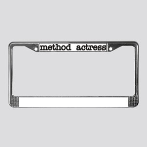 Method Actress License Plate Frame