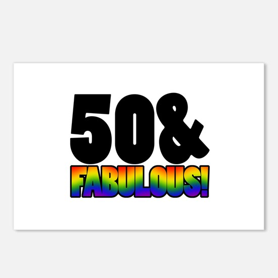 Fabulous Gay 50th Birthday Postcards (Package of 8