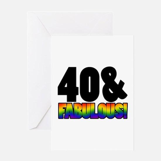 Fabulous Gay 40th Birthday Greeting Card