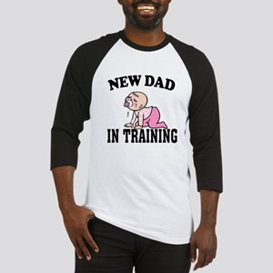 New Dad In Training (Girl) Baseball Jersey