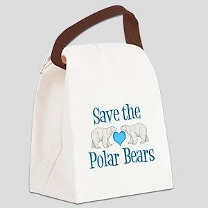 Save the Polar Bears Canvas Lunch Bag