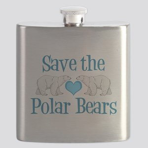 Save the Polar Bears Flask