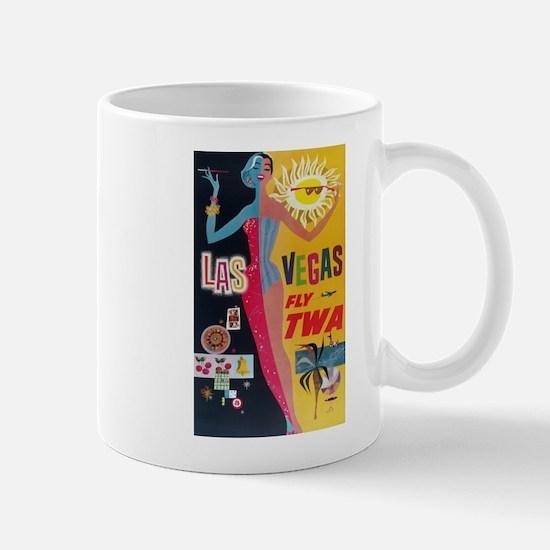 Las Vegas, Travel, Vintage Poster Mug