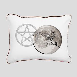 Cat Moon Rectangular Canvas Pillow