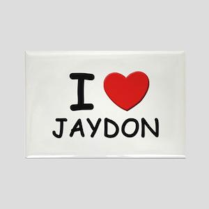 I love Jaydon Rectangle Magnet